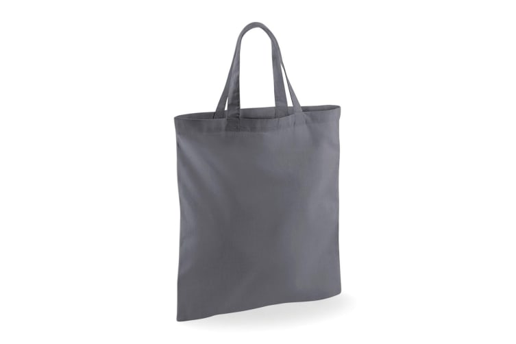 Westford Mill Short Handle Bag For Life (Pack of 2) (Graphite Grey) (One Size)