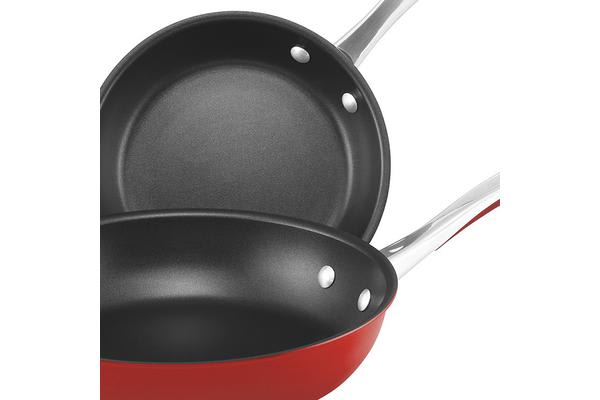 Raco Contemporary Skillet Twin Pack 20cm & 26cm Red