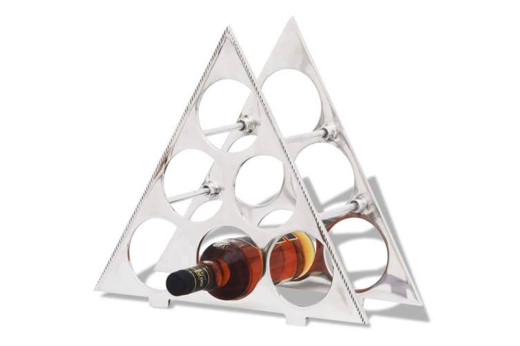 vidaXL Wine Stand for 6 Bottles Silver Aluminium