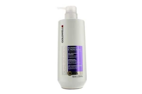 Goldwell Dual Senses Blondes & Highlights Anti-Brassiness Shampoo (For Luminous Blonde & Highlighted Hair) (750ml/25.4oz)
