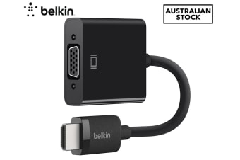 Belkin VGA to HDMI Adapter w/Audio Support/Micro-USB Power/Cable Converter Black