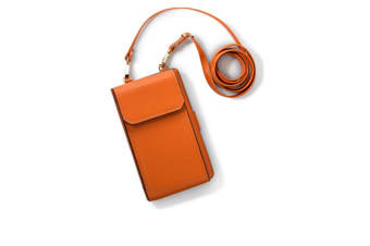Small Messenger Pouch Bags with Card Holder Slot for iPhone Orange