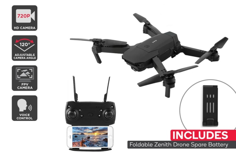 Foldable Zenith Drone with FPV Wi-Fi Camera Combo