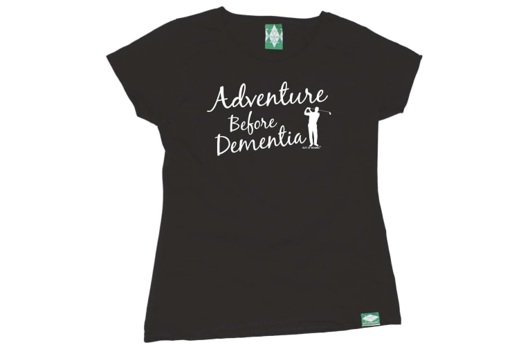 Out Of Bounds Golf Tee - Adventure Before Dementia Golf - (X-Large Black Womens T Shirt)