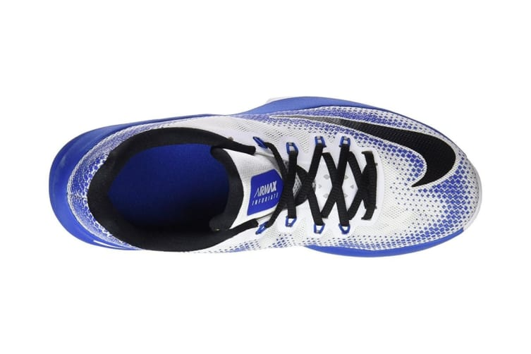 Nike Men's Air Max Infuriate Low Basketball Shoe (Blue/White, Size 7.5 US)