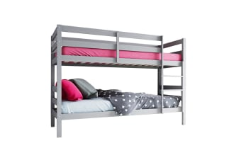 Cato 2-in-1 Twin Convertible Timber Bunk Bed - Grey
