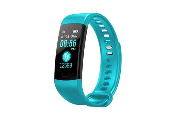 """TODO Bluetooth V4.0 Fitness Band Watch Heart Rate Blood Oxygen Ip67 0.96"""" Oled - Blue"""