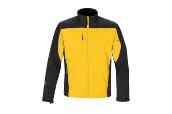 Stormtech Mens Edge Softshell Jacket (Waterproof And Breathable) (Cyber Yellow/Black)