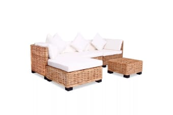 vidaXL Sofa Set 14 Pieces Natural Rattan