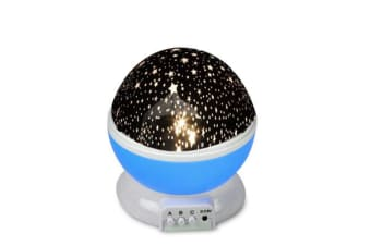 Star Moon Sky Starry Night Projector Light Lamp For Kids Baby Bedroom Blue
