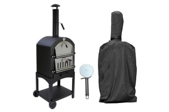 Steel Pizza Oven with Pizza Stone and Temperature Gauge
