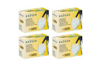 40pc Kayser Soda Syphon Siphon Chargers Carbon Dioxide CO2 Sparkling Water Bulbs