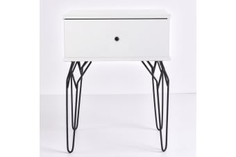 Kyra Bedside Table - White
