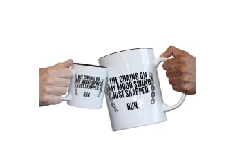 123T Novelty Funny Giant 2 Litre Mugs - The Chains On My Mood Swing Snapped