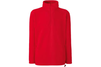 Fruit Of The Loom Mens Half Zip Outdoor Fleece Top (Red) (M)