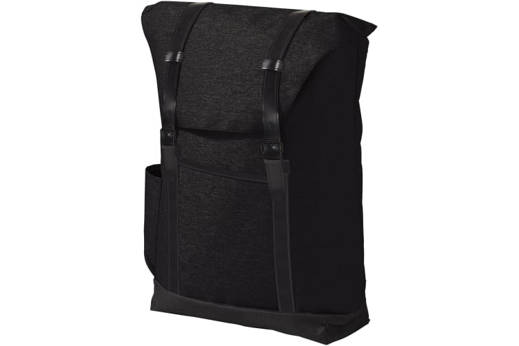Avenue Thomas 16in Laptop Backpack (Solid Black) (30 x 13 x 45 cm)