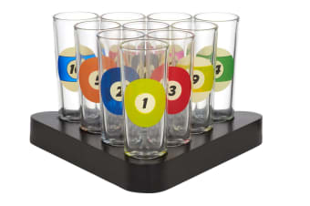 Snooker Shot Glasses - 11 Piece Set