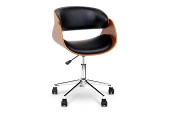 PU Leather Curved Tub Office Chair