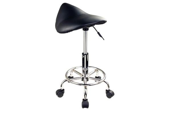 Saddle Salon Stool - BLACK