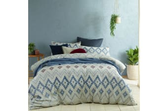 Tribal Blue Quilt Cover Set Queen by Accessorize