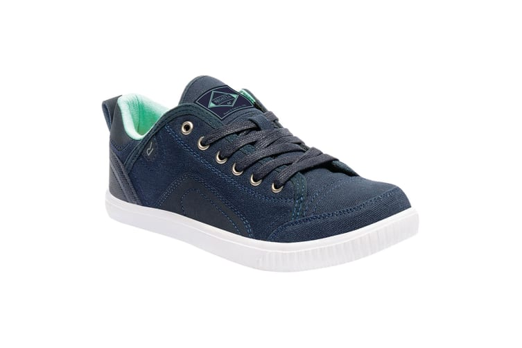 Regatta Great Outdoors Womens/Ladies Lady Turnpike Canvas Plimsolls (Navy/Ice Green) (7 UK)