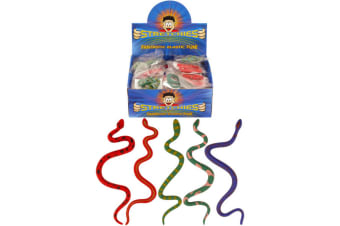Henbrandt Stretchies Childrens/Kids Elastic Snake Toys (Box Of 72) - ASRTD (Multicoloured) (One Size)