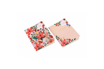 Painted & Pressed Notebooks (Set Of 2) (Coral)