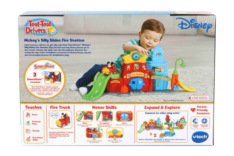 Vtech Toot-Toot Drivers Mickey's Silly Slides Fire Station