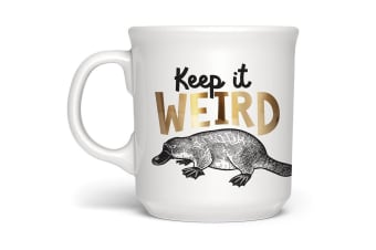 Keep It Weird Metallic Platypus Mug | Genuine Fred