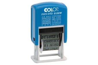 Colop Dial-A-Phrase 4mm Stamp Office/Company Document Word Stamper/Press Blue