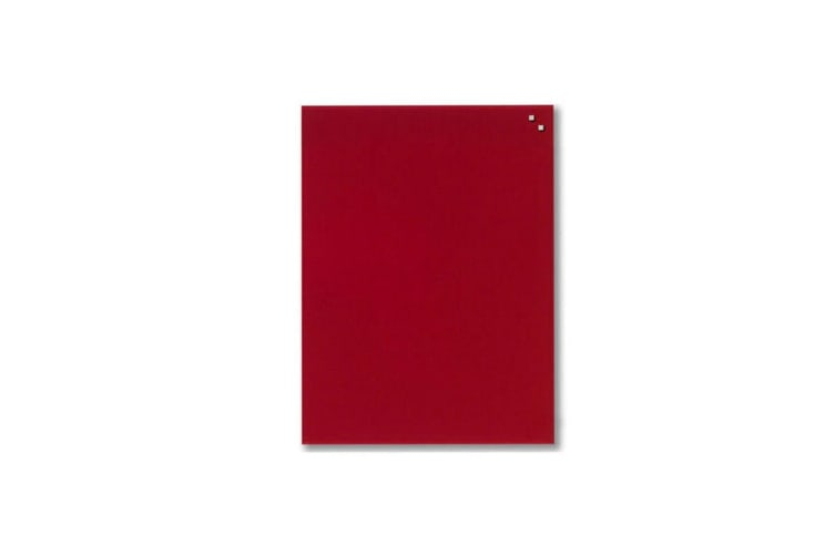 Naga 80x60cm Wall Mountable/Magnetic/Magnets Glass Board Home/Office Red