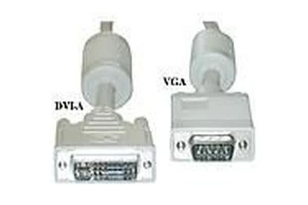 Cabac 1.8m DVI-I Analog  to VGA HD15 Cable