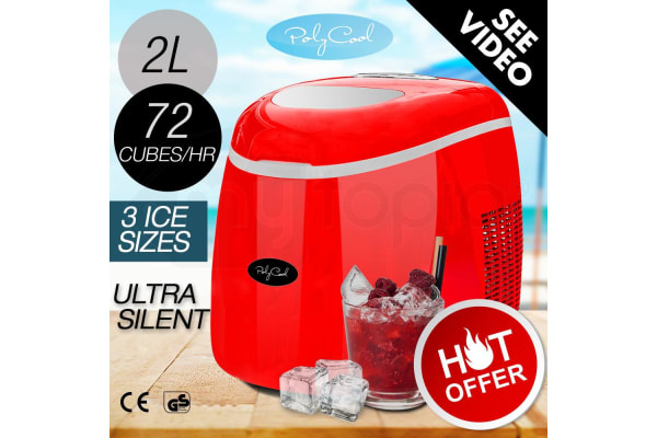Red Portable Ice Cube Maker -IM-2L