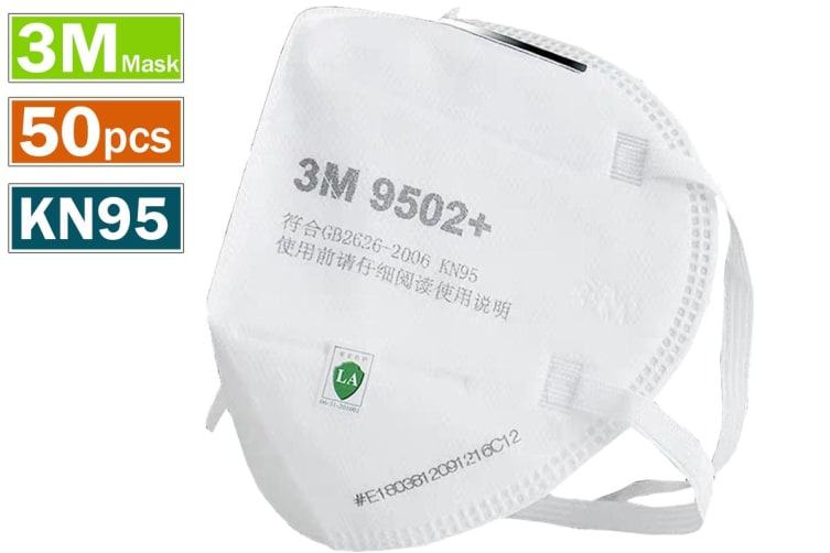 50pcs 3M 9502+ KN95 Particulate Anti Dust Face Mouth Mask