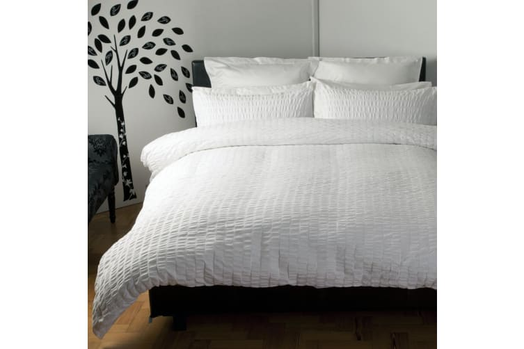 Belledorm Lincoln Duvet Cover Set (White) (Double)