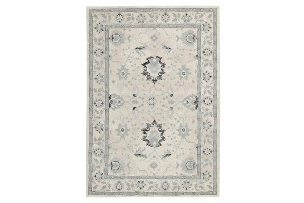 Nain Persian Design Rug Bone Blue Navy 330x240cm