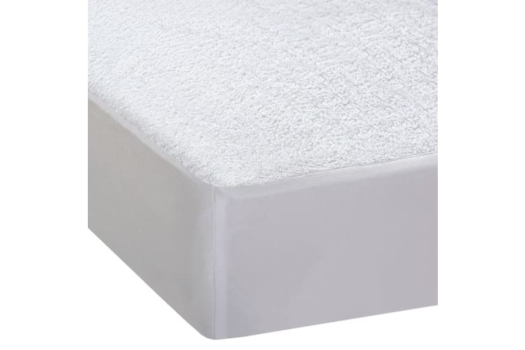 DreamZ Terry Cotton Fyllt Fitted Waterproof Mattress Protector in Double Size