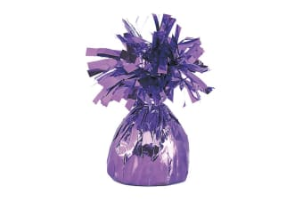 Unique Party Foil Tassels Balloon Weights (Pack Of 6) (Lavender)