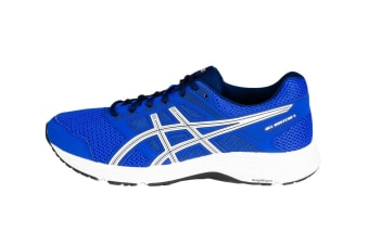 ASICS Men's GEL-Contend 5 Running Shoes (Imperial Blue/White, Size 12)