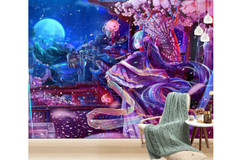 3D Ethereal Gauze 39 Anime Wall Murals Woven paper (need glue), XL 208cm x 146cm (WxH)(82''x58'')
