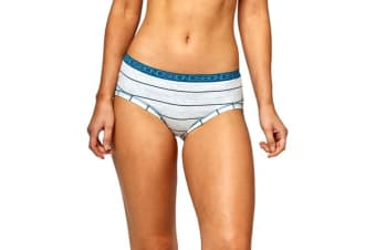 Bonds Women's Cottontails Midi Brief (Grey/Blue Stripe, Size 14)