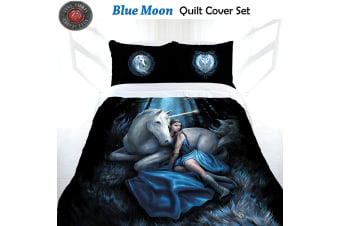 Anne Stokes Blue Moon Quilt Cover Set Queen