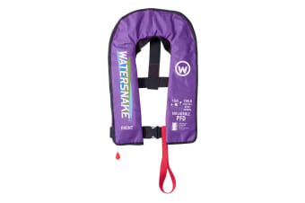 Lilac Watersnake Deluxe Automatic/Manual Inflatable PFD - Level 150 Child Life Jacket