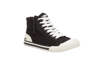 Rocket Dog Womens/Ladies Jazzin High Top Trainer (Black) (6 UK)