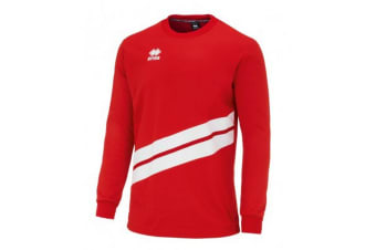 Errea Unisex Julio Long Sleeved Warm Up Top (Red/White) (M)
