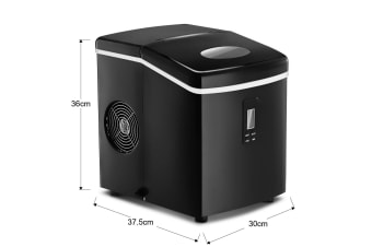 Portable Ice Maker Machine Black Coated-3.2 L