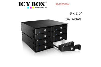"ICY BOX IB-2280SSK - Backplane for 8x 2.5"" SATA/SAS HDD and SSD"