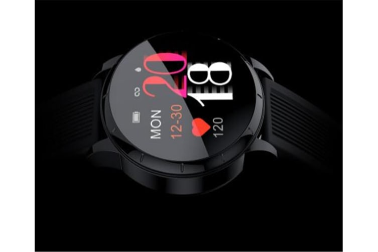 WJS Wallpaper Change Color Display Wristband Heart Rate Blood Pressure Female Period Monitor Smart Watch-D