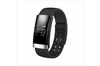 Bluetooth V4.0 Smart Fitness Tracker Watch Rechargeable Heart Rate Monitor Silver