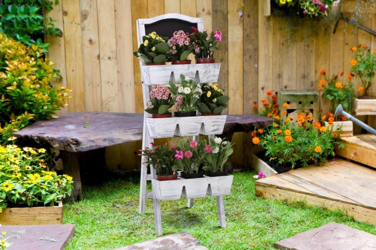Pine Wood 3-Tier Garden Planter